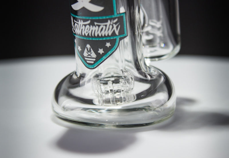 Mathematix Glass Mini Double Barrel Bubbler Water Pipe - Brothers with Glass - 4