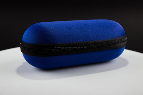 Padded Zippered 5 Inch Pipe Case - Blue