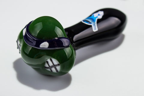 Chameleon Glass TMNT Turtle Hand Pipe - Donatello