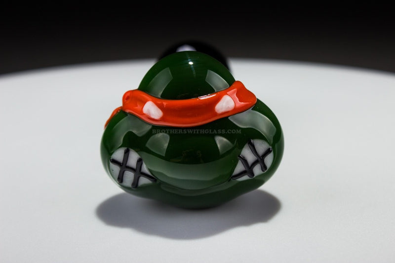Chameleon Glass TMNT Turtle Hand Pipe - Michaelangelo