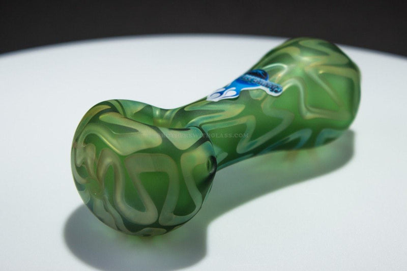 Chameleon Glass Desiderata Sand Blasted Hand Pipe - Green