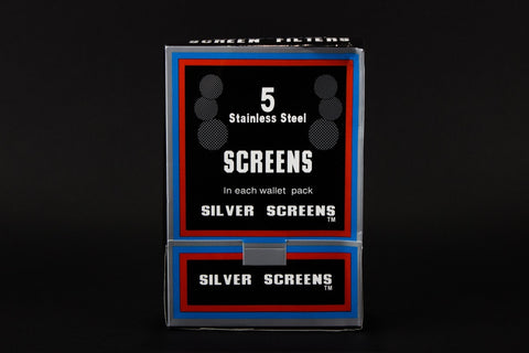 5 pack Stainless Steel Hand Pipe Silver Screens - 3 packs