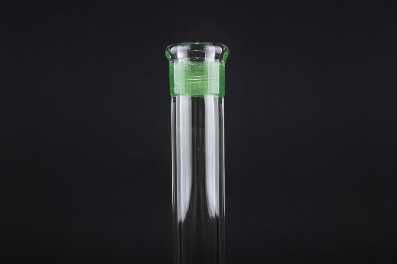 No Label Glass 10 In Fixed Dab Rig - Green