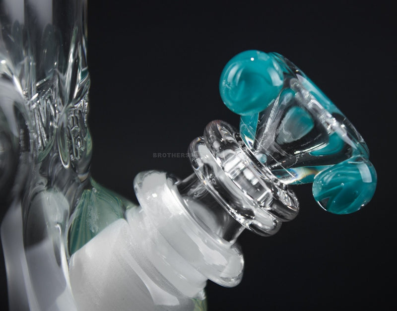 HVY Glass 9mm Color Wrap Beaker Bong - Teal