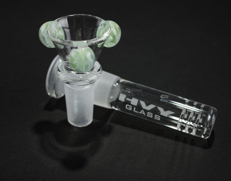HVY Glass Straight Colored Wave Bong - Mint with Waves