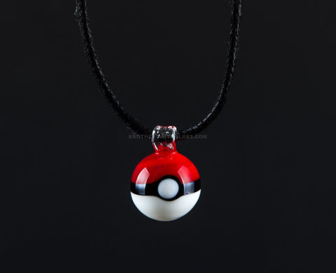 Poke Ball Glass Pendant