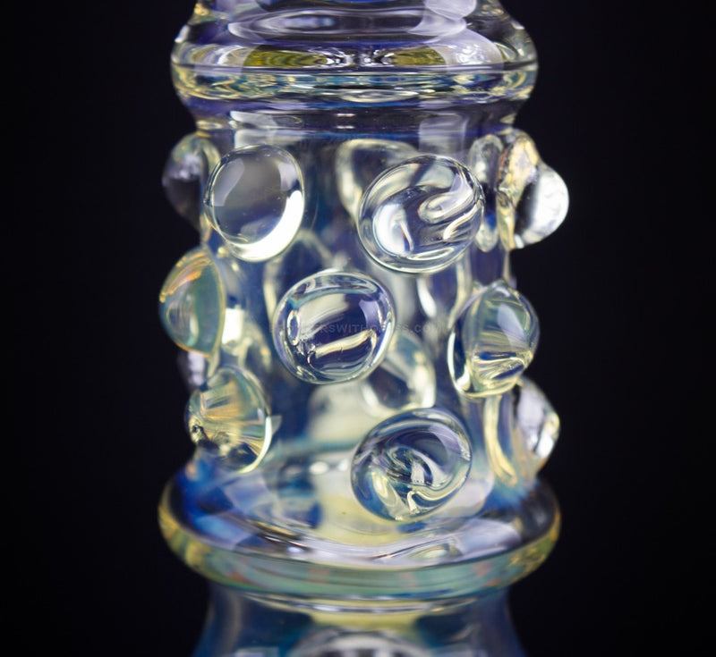 No Label Glass 14 In Fumed Beaker With Marbles Water Pipe