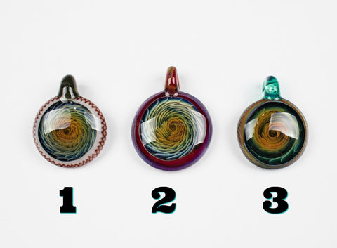 Choice of Three Circle Inside Out Pendants by JB Glass