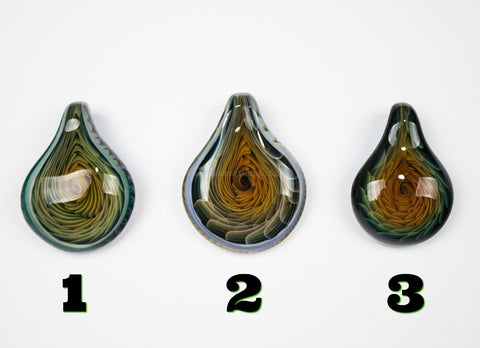 Choice of Three Tear Drop Inside Out Pendants by JB Glass