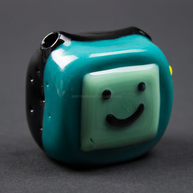 Chameleon Glass BeeMo Adventure Time Pendant