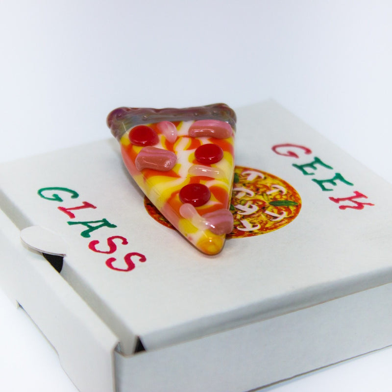 Geek Glass Pizza Pendant - Style Two