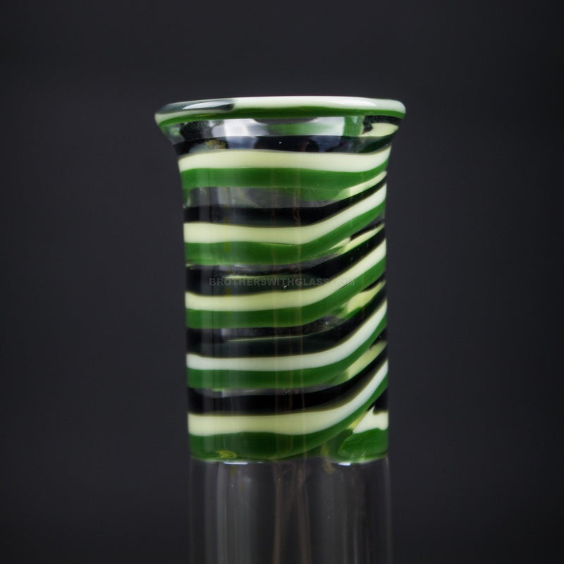 HVY Glass Color Striped Beaker Bong - Green and Black