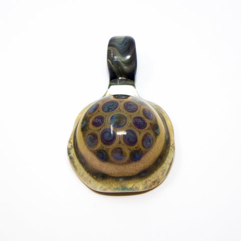 Jolly Glass Turtle Shell Pendant - Style One