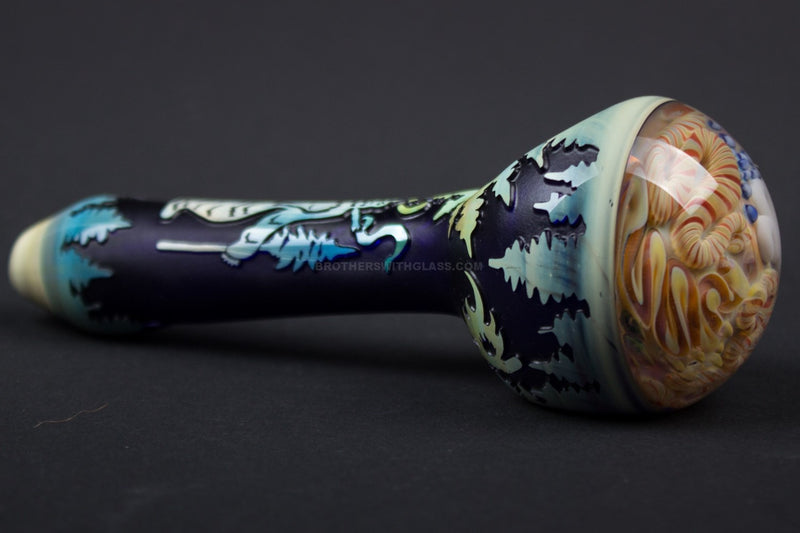Liberty 503 Sandblasted Inside Out Cap Hand Pipe - Sasquatch