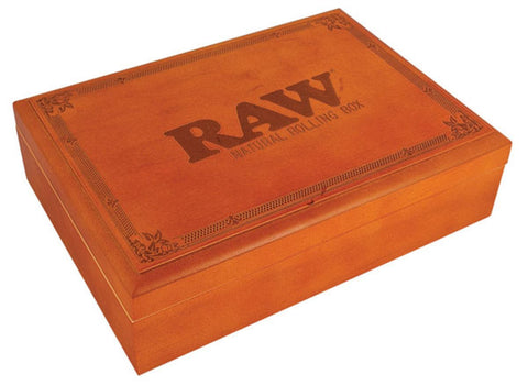 Raw Wood Rolling Box