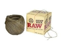 Raw Hempwick Ball - 100ft - Brothers with Glass