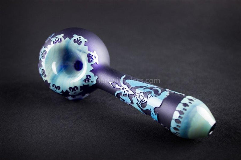 Liberty 503 Fumey Sandblasted Hand Pipe - Live Free Illuminati - Brothers with Glass - 5