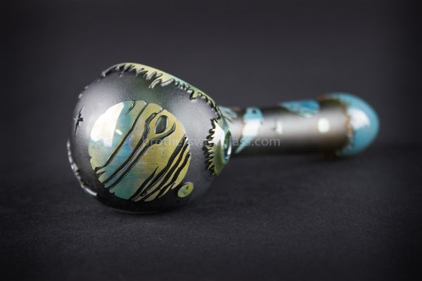 Liberty 503 Fumed Sandblasted Hand Pipe - Outer Space - Brothers with Glass - 1