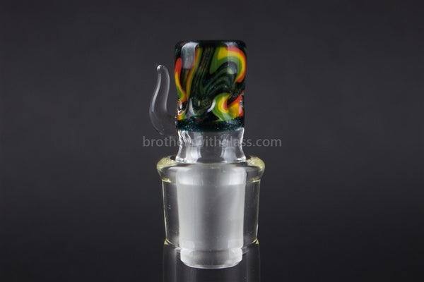 Liberty 503 18mm Worked Water Pipe Slide - Dark Colors - Brothers with Glass - 1