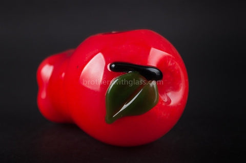 Chameleon Glass Ruby Red Apple Eve Hand Pipe - Brothers with Glass - 1
