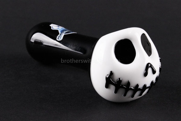 Chameleon Glass Skellington Hand Pipe - Brothers with Glass - 1