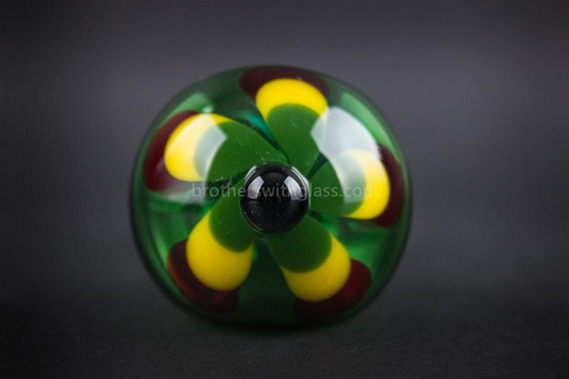 Chameleon Glass Jamaican Soul Flower Hand Pipe - Green - Brothers with Glass - 3