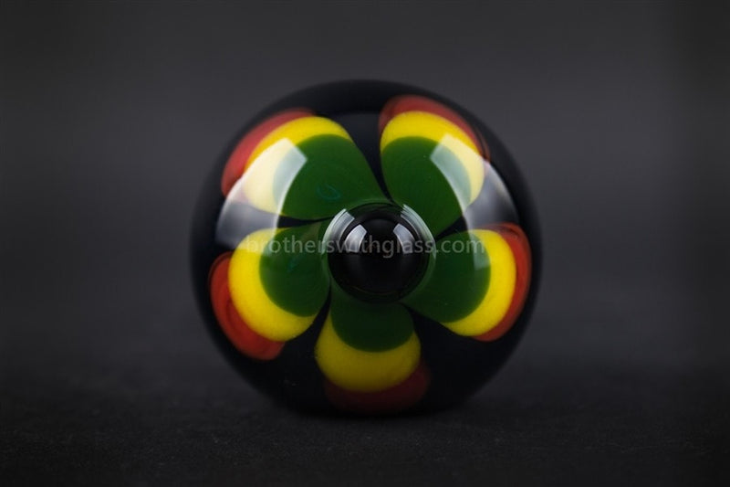 Chameleon Glass Jamaican Soul Flower Hand Pipe - Onyx - Brothers with Glass - 3