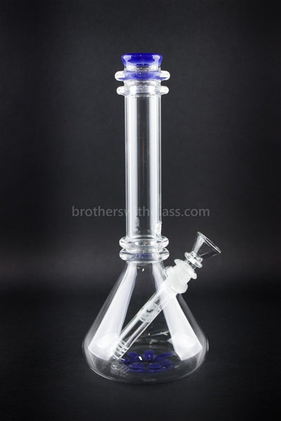 HVY Glass Double Maria Beaker Water Pipe Blue Cheese - Brothers with Glass - 1