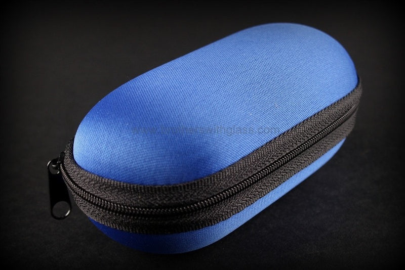 Biohazard Padded Zippered 9 Inch Pipe Case - Blue - Brothers with Glass - 1