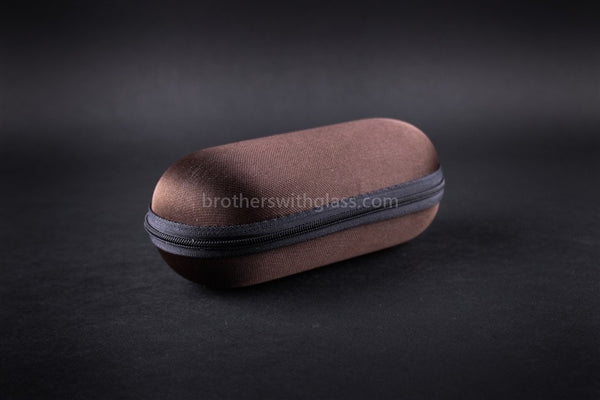 Biohazard Padded Zippered 5 Inch Pipe Case - Brown - Brothers with Glass - 1