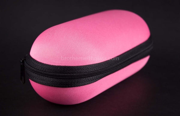 Biohazard Padded Zippered 6 Inch Pipe Case - Pink - Brothers with Glass - 1
