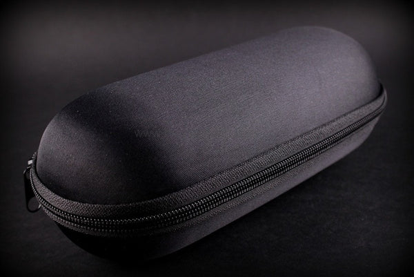 Biohazard Padded Zippered 9 Inch Pipe Case - Black - Brothers with Glass - 1
