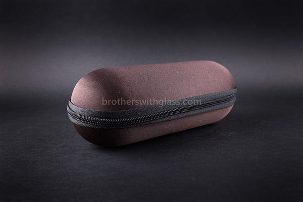 Biohazard Padded Zippered 9 Inch Pipe Case - Brown - Brothers with Glass - 1