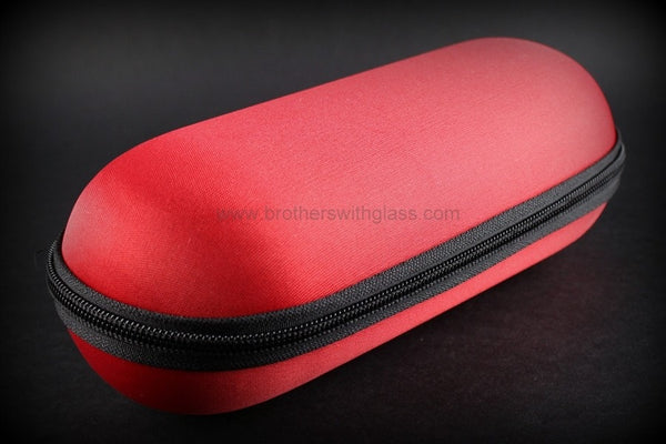 Biohazard Padded Zippered 9 Inch Pipe Case - Red - Brothers with Glass - 1