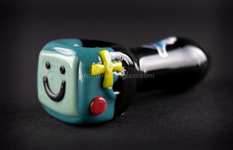 Chameleon Glass BeeMo Adventure Hand Pipe - Brothers with Glass - 1