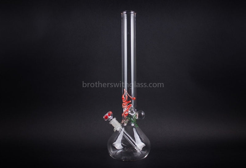 Realazation 16 In Glass Red Rose Marble Beaker Water Pipe - Brothers with Glass - 1