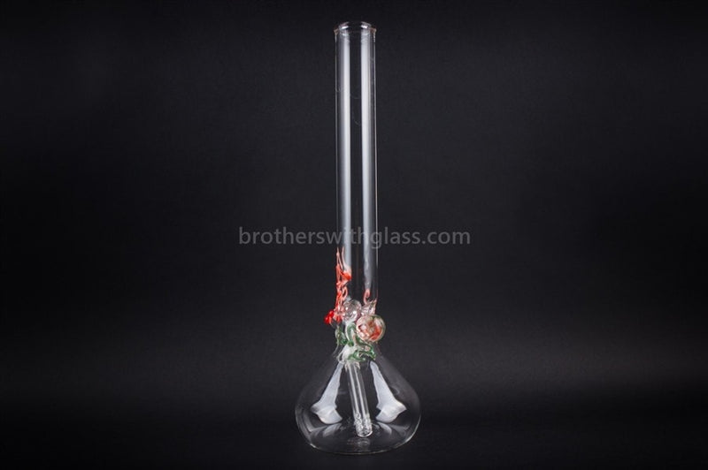 Realazation 16 In Glass Red Rose Marble Beaker Water Pipe - Brothers with Glass - 2