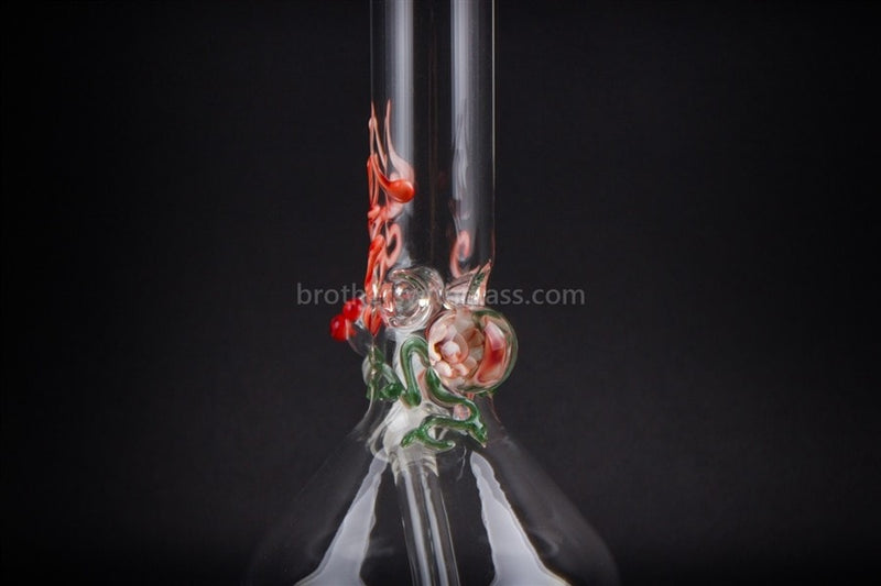 Realazation 16 In Glass Red Rose Marble Beaker Water Pipe - Brothers with Glass - 3