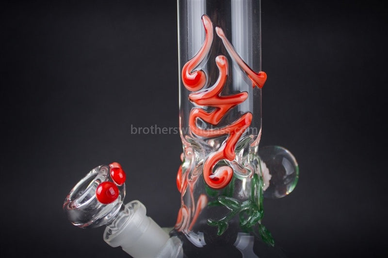 Realazation 16 In Glass Red Rose Marble Beaker Water Pipe - Brothers with Glass - 8