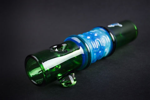 Chameleon Glass Thunder Stick Steamroller Hand Pipe - Green - Brothers with Glass - 1