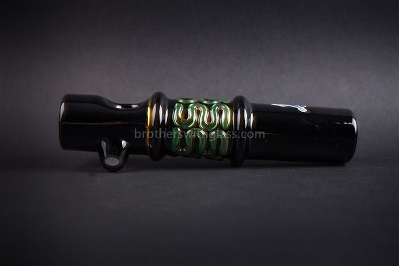 Chameleon Glass Thunder Stick Steamroller Pipe - Onyx - Brothers with Glass - 3