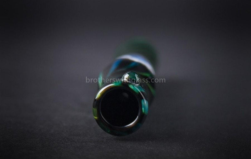 Chameleon Glass Intuition Chillum Hand Pipe - Brothers with Glass - 4