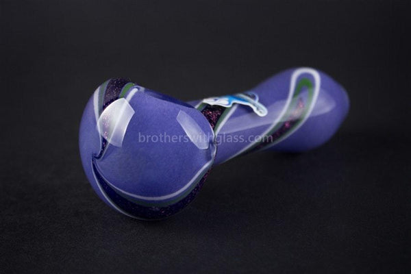 Chameleon Glass Dichro Deviant Frit Hand Pipe - Purple - Brothers with Glass - 1