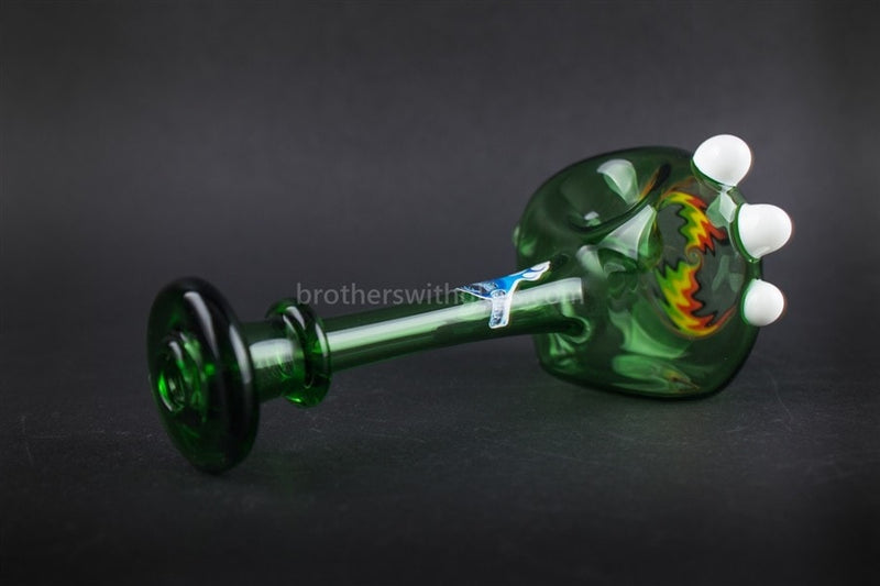 Chameleon Glass Wig Wag Free Spirit Reversal Hand Pipe - Green - Brothers with Glass - 2