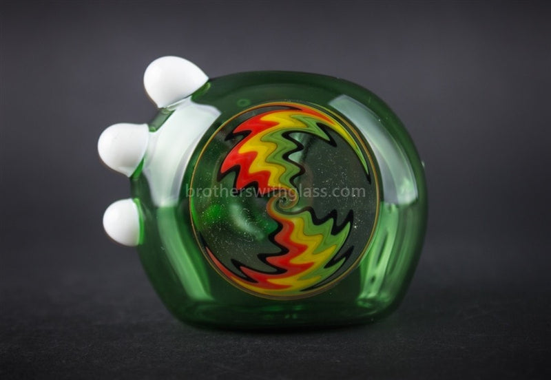 Chameleon Glass Wig Wag Free Spirit Reversal Hand Pipe - Green - Brothers with Glass - 3