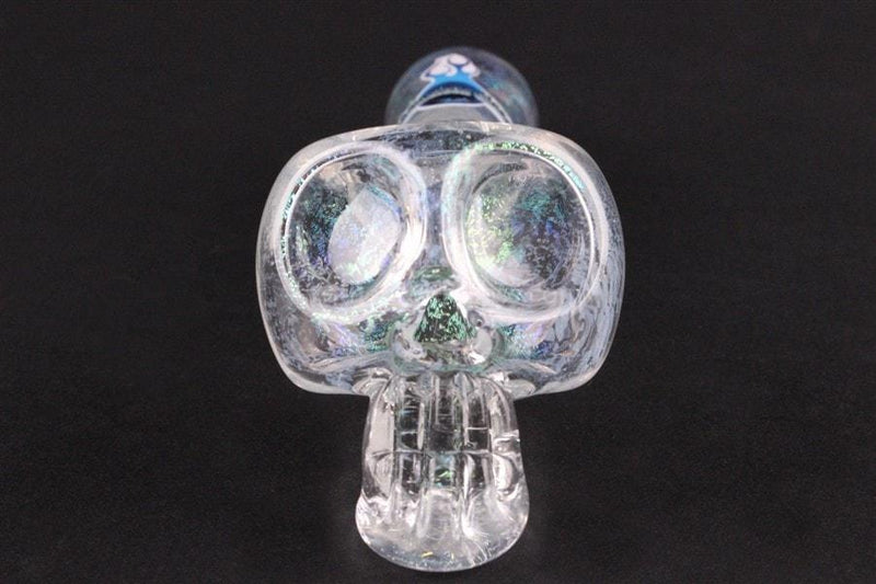 Chameleon Glass Crystal Skull Dichro Hand Pipe - Brothers with Glass - 3