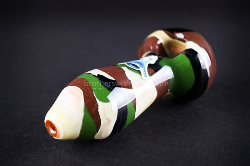 Chameleon Glass Warrior Camouflage Safari Series Pipe - Brothers with Glass - 1