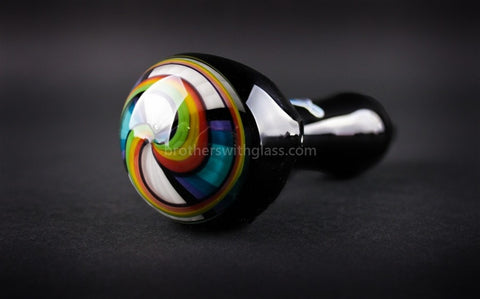 Chameleon Glass Twisted Rainbow Reversal Hand Pipe - Brothers with Glass - 1