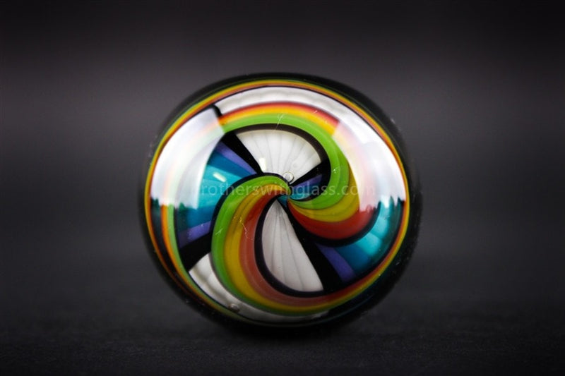 Chameleon Glass Twisted Rainbow Reversal Hand Pipe - Brothers with Glass - 3