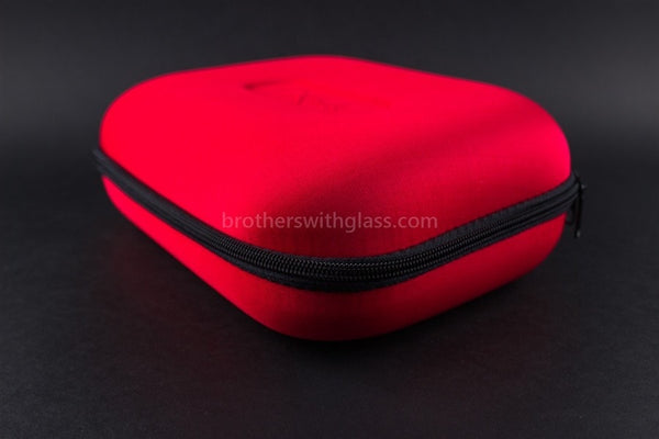 Biohazard Padded Zippered 9 by 7 Inch Pipe Case - Red - Brothers with Glass - 1